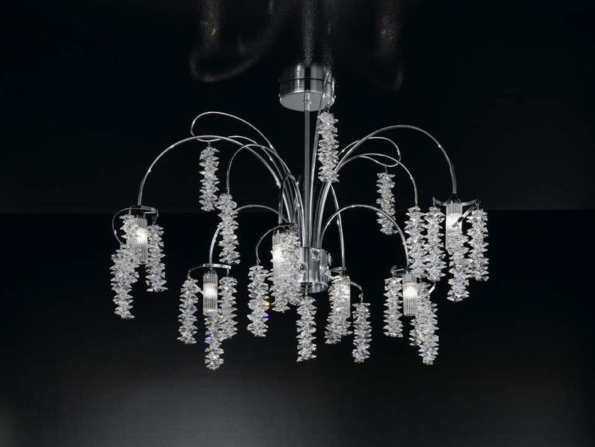 Direct light crystal ceiling light SALICE | Ceiling light by IDL EXPORT