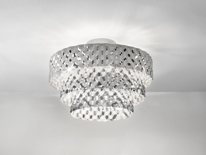 Direct-indirect light metal ceiling light CAPITONNÈ | Ceiling light by IDL EXPORT