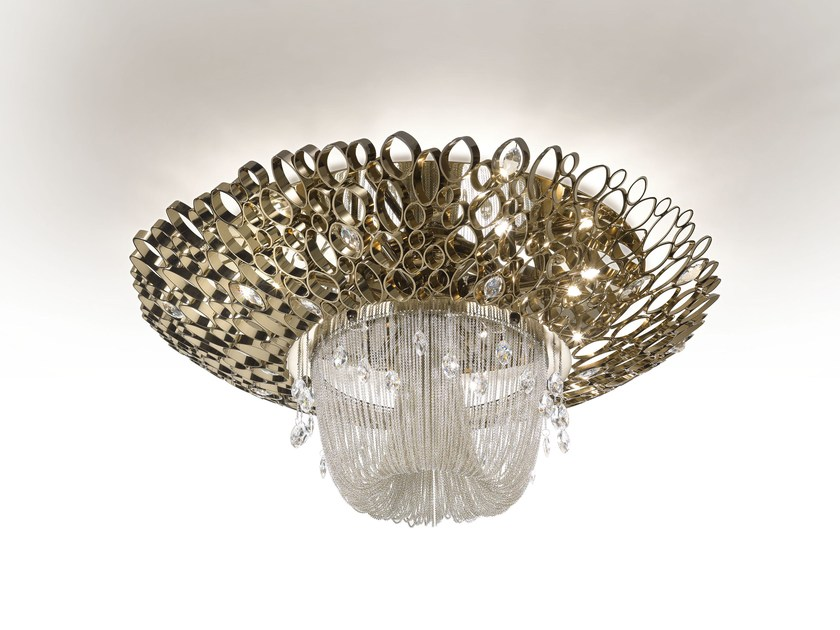 Metal ceiling light with Swarovski® crystals CHRYSALIS | Ceiling light by IDL EXPORT