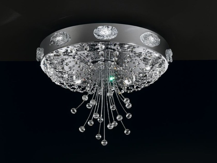Metal ceiling light with Swarovski® crystals ELEGANCE | Ceiling light by IDL EXPORT