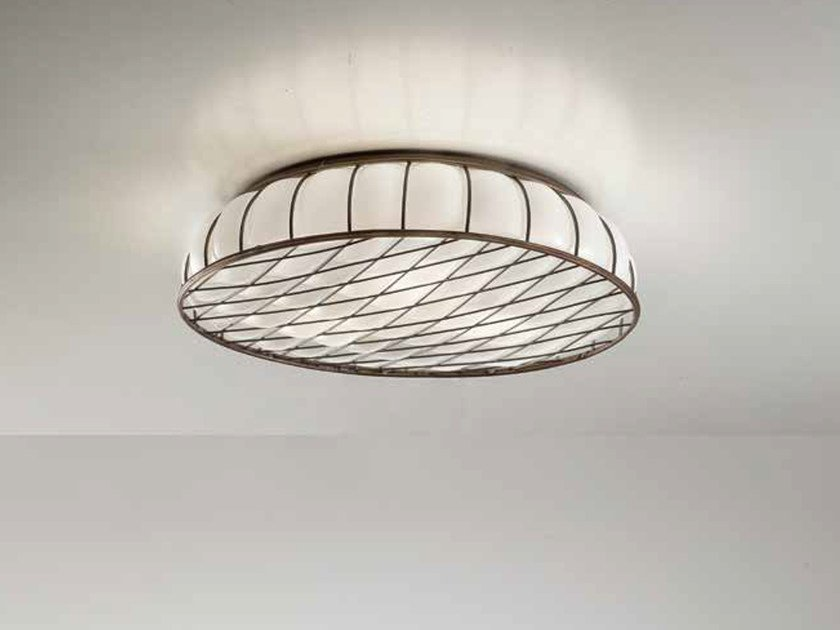 Murano glass ceiling light SOFFICE MC 441 by Siru