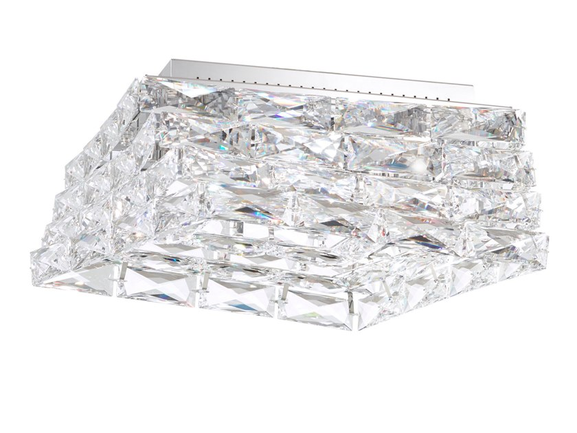 LED crystal and stainless steel ceiling light GLISSANDO | Ceiling light by Swarovski