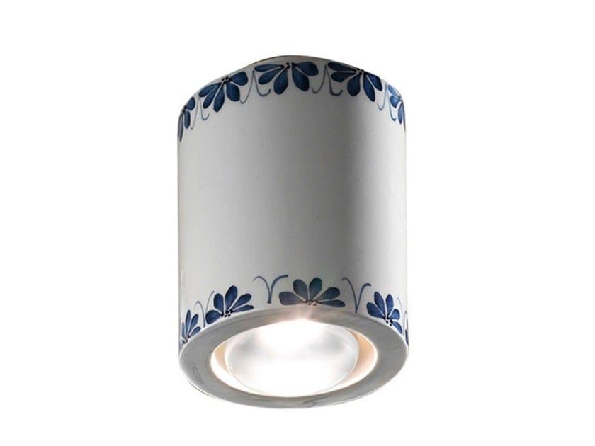 Round ceiling ceramic spotlight TRIESTE | Ceiling spotlight by FERROLUCE