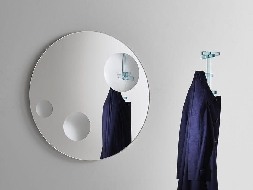Espelho redondo de cristal de parede CELESTE | Espelho redondo by Glas Italia