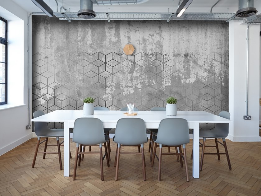 Wallpaper with concrete effect CEMENT by Wall LCA
