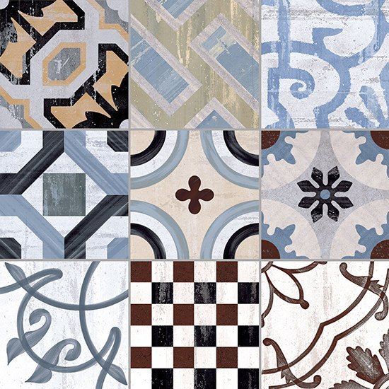 Porcelain stoneware wall/floor tiles CEMENTINE 20 COLORS by Ceramica Fioranese