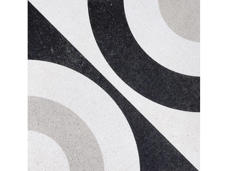 Porcelain stoneware wall/floor tiles CEMENTINE BLACK & WHITE 5 by Ceramica Fioranese