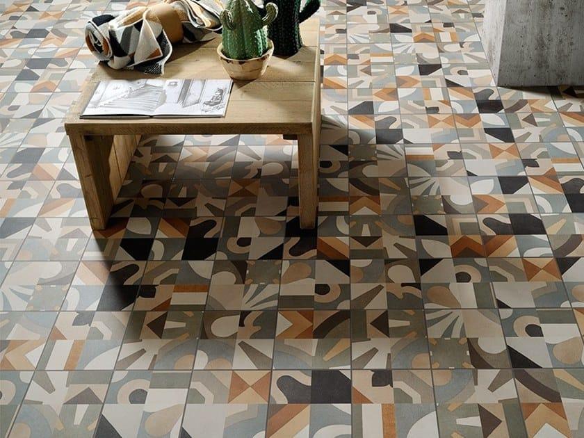Porcelain stoneware wall/floor tiles CEMENTINE_BOHO