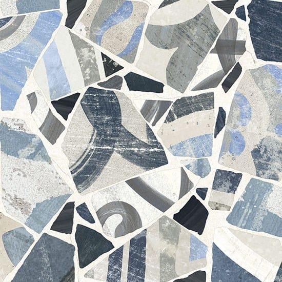 Porcelain stoneware wall/floor tiles CEMENTINE_COCCI BLU by Ceramica Fioranese