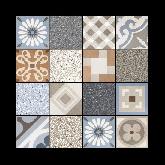 Porcelain stoneware wall/floor tiles CEMENTINE_RETRÒ MIX by Ceramica Fioranese