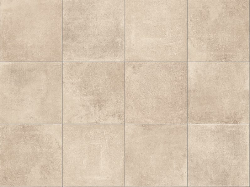 Porcelain stoneware outdoor floor tiles with concrete effect CEMENTO TAUPE 3CM by GRANULATI ZANDOBBIO