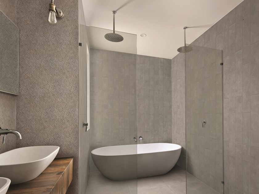 Indoor wall/floor tiles with concrete effect CEMENTO | Wall/floor tiles by AREZIA