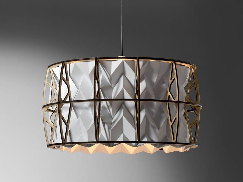 Handmade plastic pendant lamp CENTAURI by JavyDesign