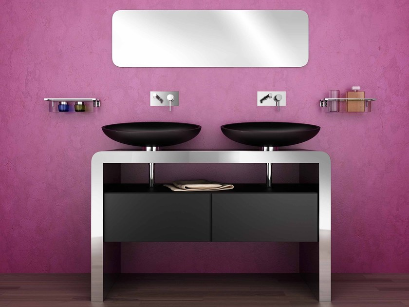 Double stainless steel vanity unit with drawers CENTOTTANTA   Vanity unit by Componendo