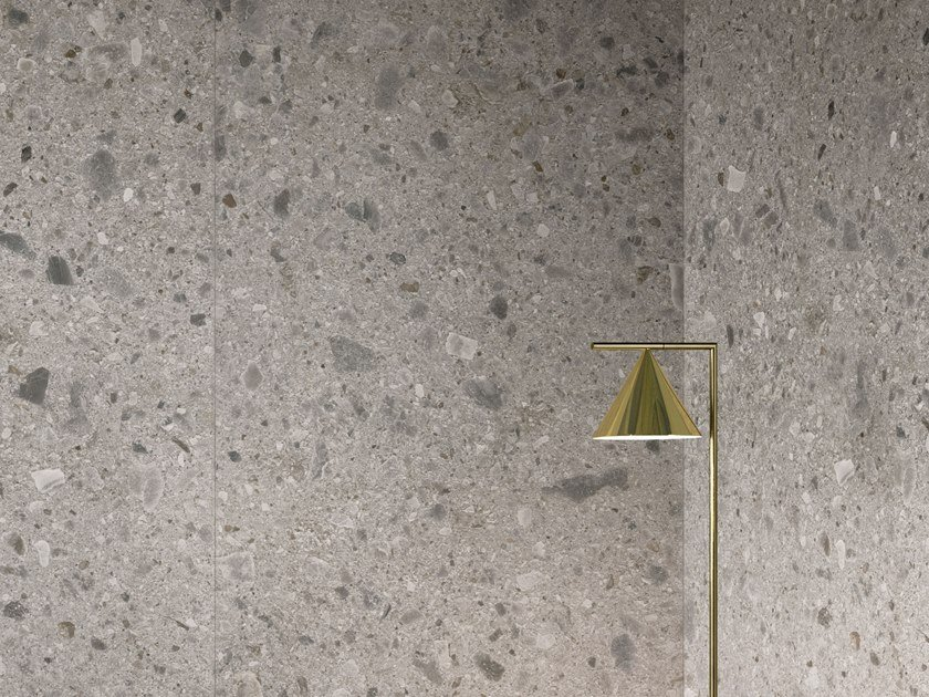 Porcelain stoneware wall/floor tiles with stone effect CEPPO DI GRÉ GREY by Italgraniti