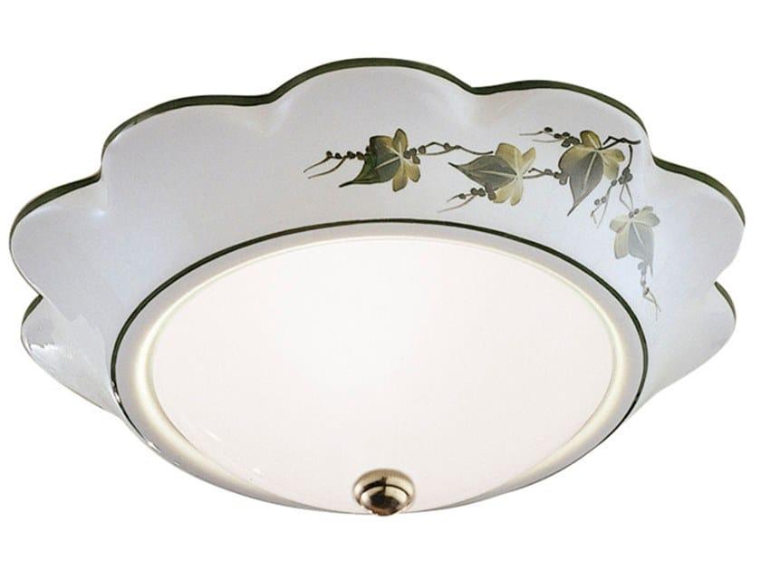 Ceramic ceiling light CAPUA   Ceramic ceiling light by FERROLUCE