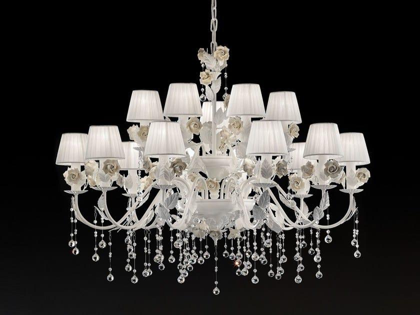 Direct light metal chandelier CERAMIC GARDEN | Chandelier by Masiero