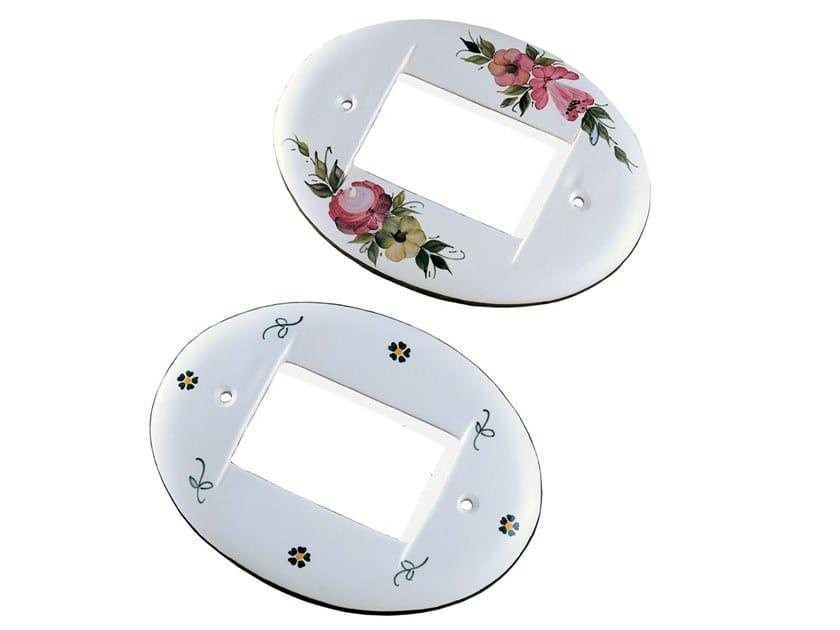 Oval ceramic wall plate ACCESSORI | Ceramic wall plate by FERROLUCE