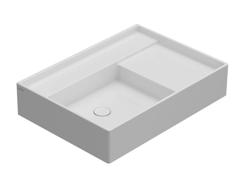 Rectangular wall-mounted ceramic washbasin DISPLAY | Wall-mounted washbasin by Ceramica Globo