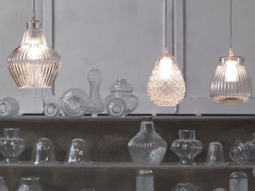 Direct light glass pendant lamp CERAUNAVOLTA by Karman