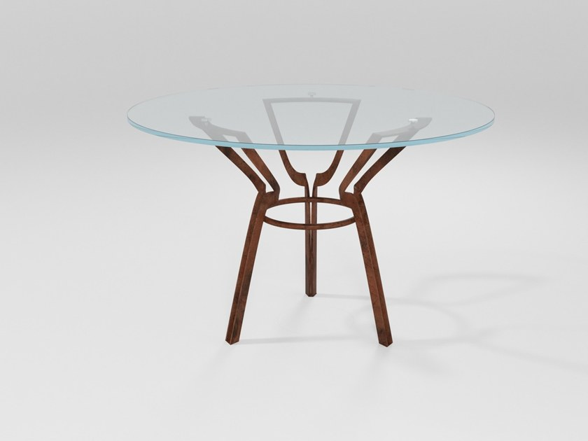 Round crystal dining table CERCHIO | Crystal table by Barel
