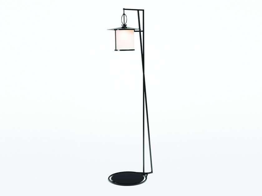 Direct light glass and steel Floor lamp CERCHIO | Floor lamp by Kevin Reilly Collection