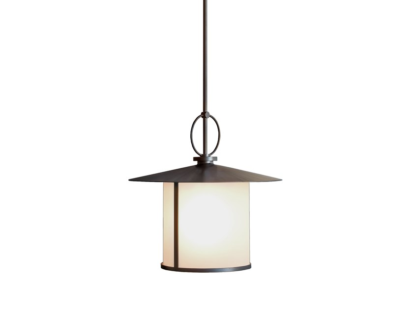 Direct light glass and steel pendant lamp CERCHIO | Pendant lamp by Kevin Reilly Collection