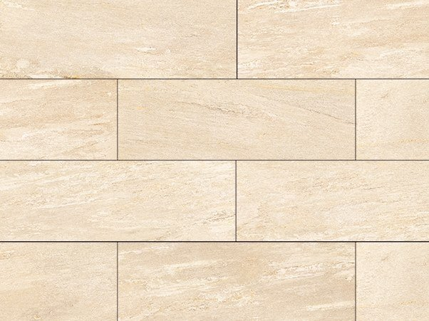 Porcelain stoneware outdoor floor tiles with stone effect CERVINO BEIGE by GRANULATI ZANDOBBIO
