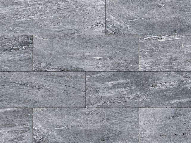 Porcelain stoneware outdoor floor tiles with stone effect CERVINO DARK by GRANULATI ZANDOBBIO
