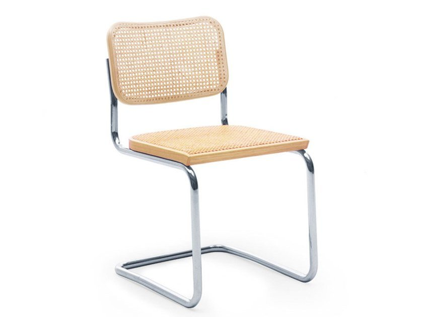 Cantilever Vienna straw chair CESCA™ by KNOLL