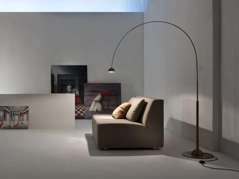 Lampada da terra in ottone CG 50 SATELLITE by Laurameroni