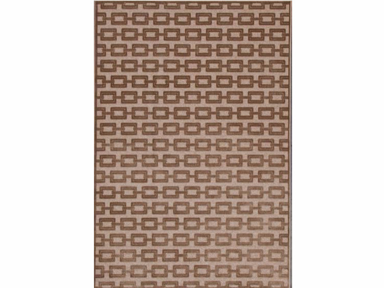 Rectangular viscose rug with geometric shapes CHAIN by Sirecom Tappeti