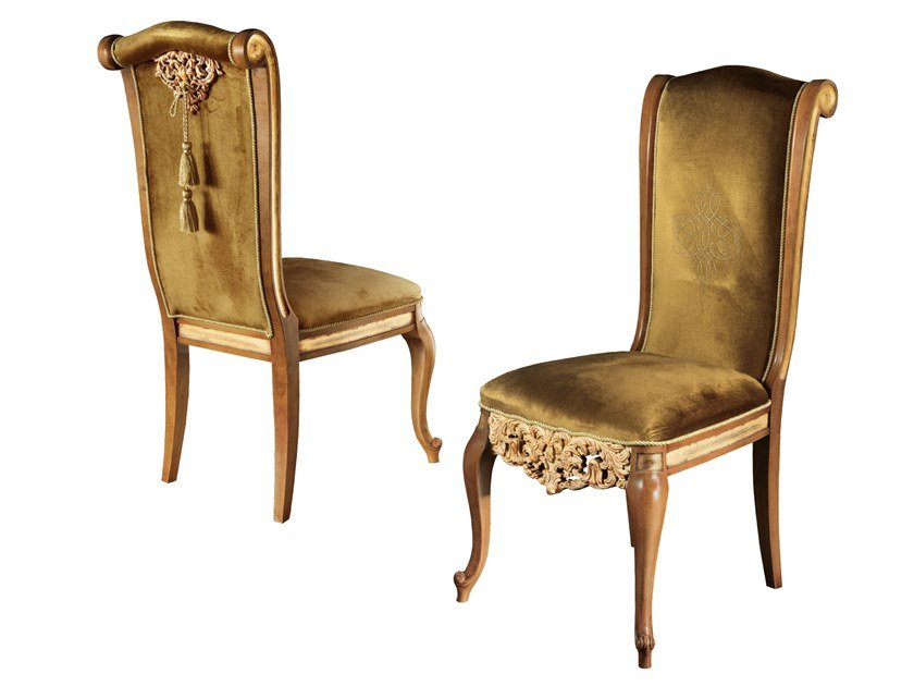 Upholstered fabric chair ROYAL   Chair by A.R. Arredamenti
