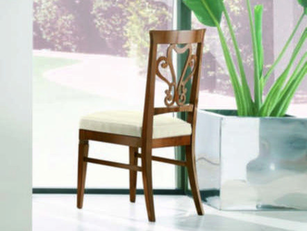 Upholstered open back chair NAIMA | Solid wood chair by Arvestyle