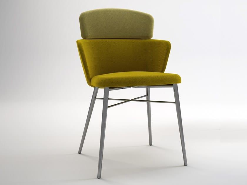 Japanese style upholstered polyurethane chair KIN | Chair by BALERI ITALIA