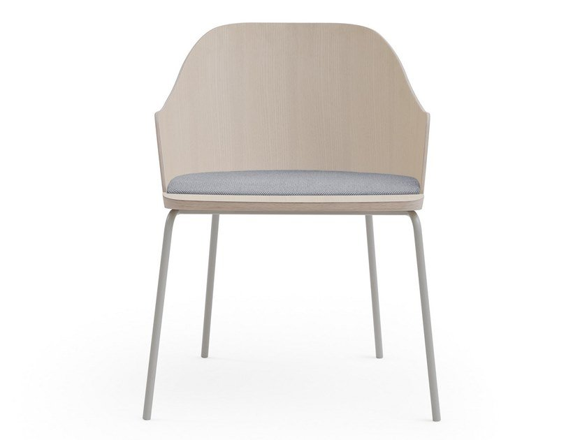 Ash chair with integrated cushion FITT CLASSIC | Chair by Billiani