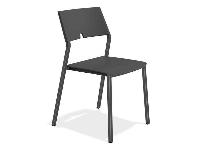 Plastic chair AXA III 1055/00 by Casala