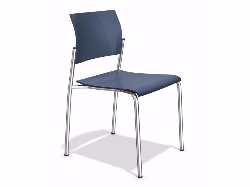 Stapelbarer Besucherstuhl aus Kunststoff COOPER | Stuhl by Casala