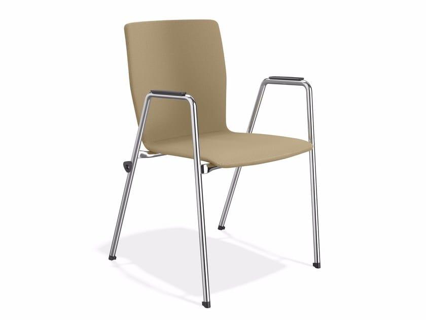 Stapelbarer Konferenzstuhl aus Stoff mit Armlehnen INTERLINK | Stuhl by Casala