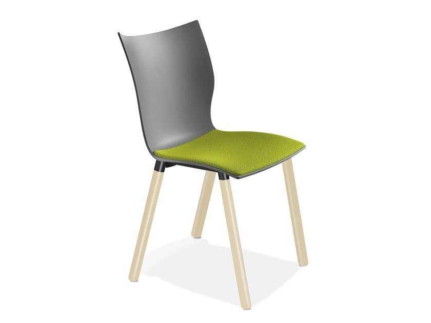 Plastic restaurant chair ONYX V   Chair by Casala