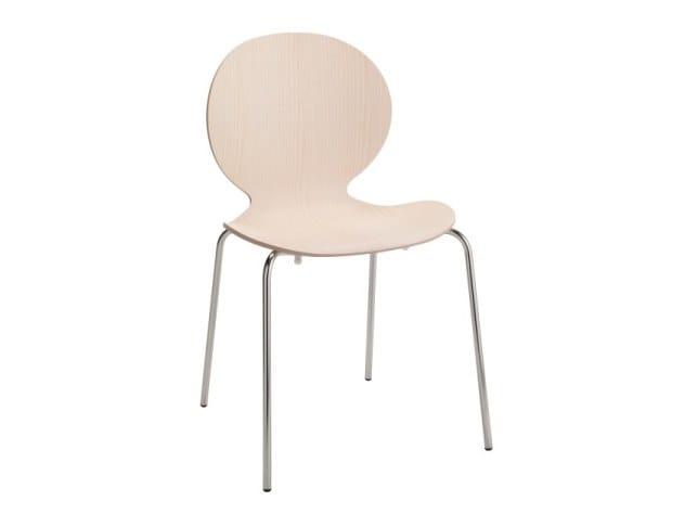 Beech chair MUSA   Chair by Cizeta L'Abbate
