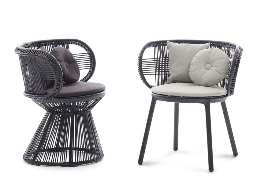 Beautiful Synthetic Fibre Chair CIRQL | Chair By DEDON
