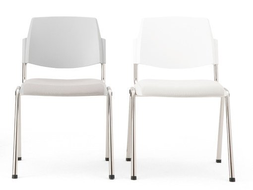 Upholstered stackable chair VOLÉE EASY SOFT | Chair by Diemmebi