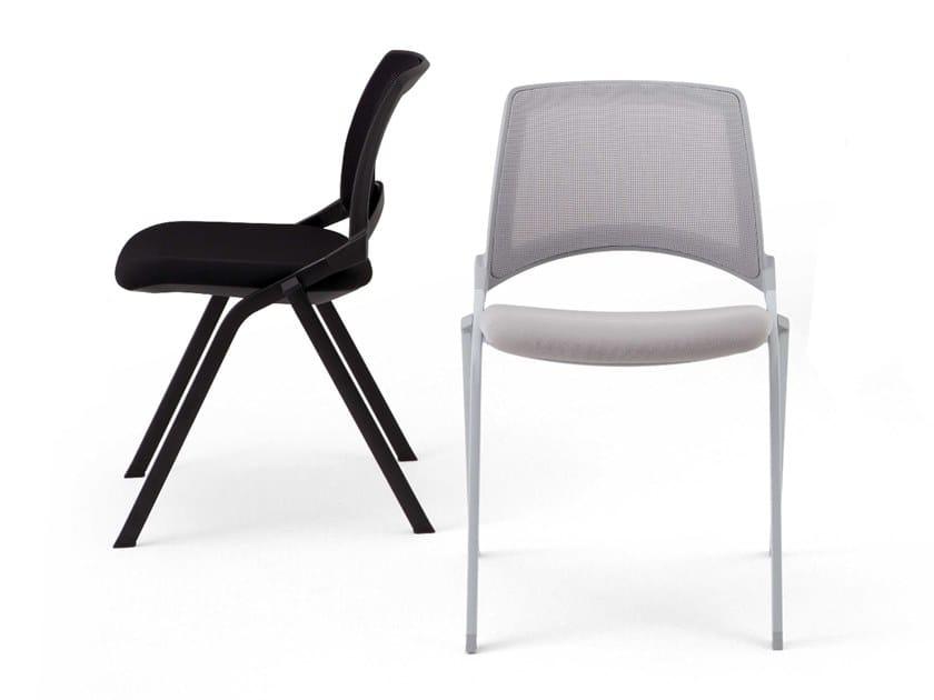 Stackable mesh chair LAKENDÒ NET | Chair by Diemmebi