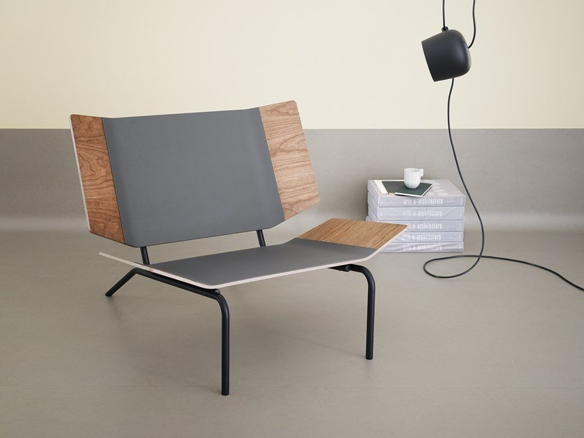 Armchair with linoleum finish Easy chair by Forbo