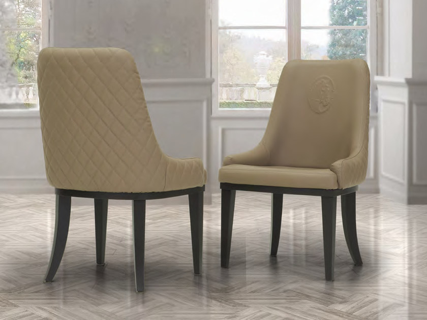 Upholstered leather chair ELVIRA | Chair by Formitalia