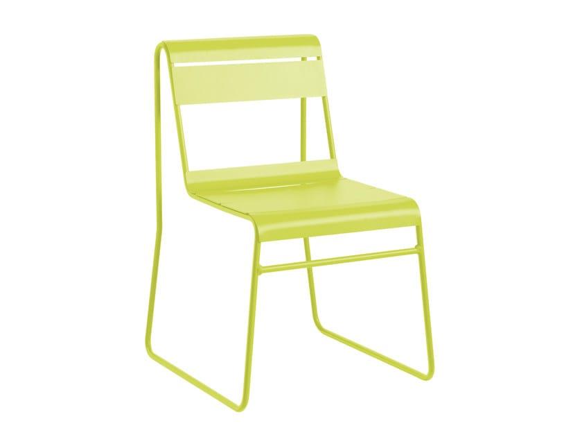 Sled base powder coated aluminium garden chair TOSCANA | Chair by iSimar