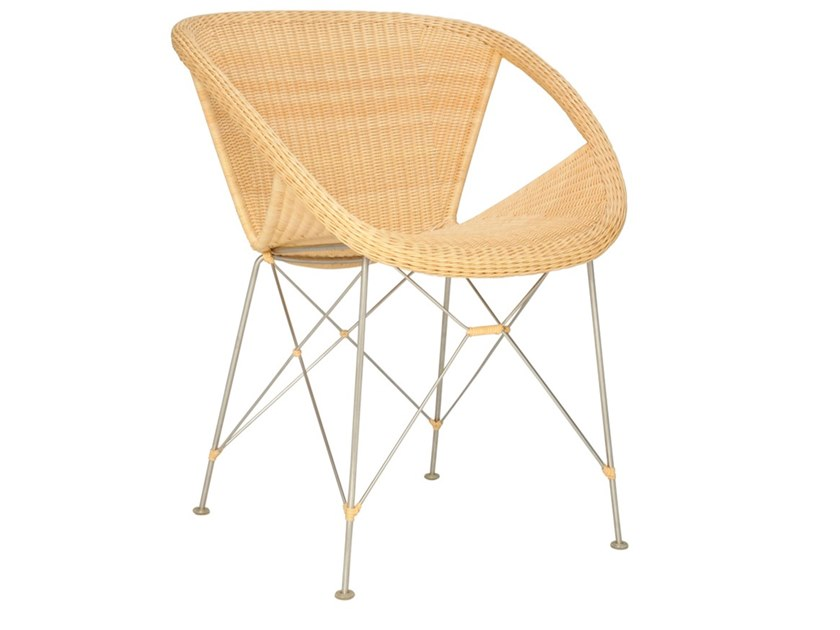 Rattan chair with armrests SUKI | Chair by JANUS et Cie