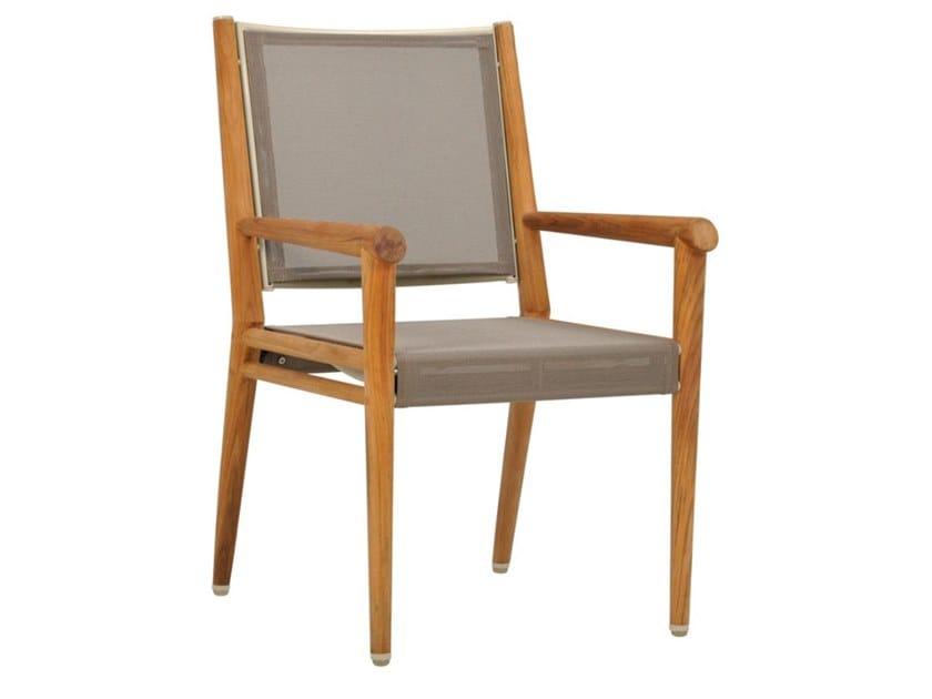 Teak garden chair with armrests KONOS   Chair by JANUS et Cie
