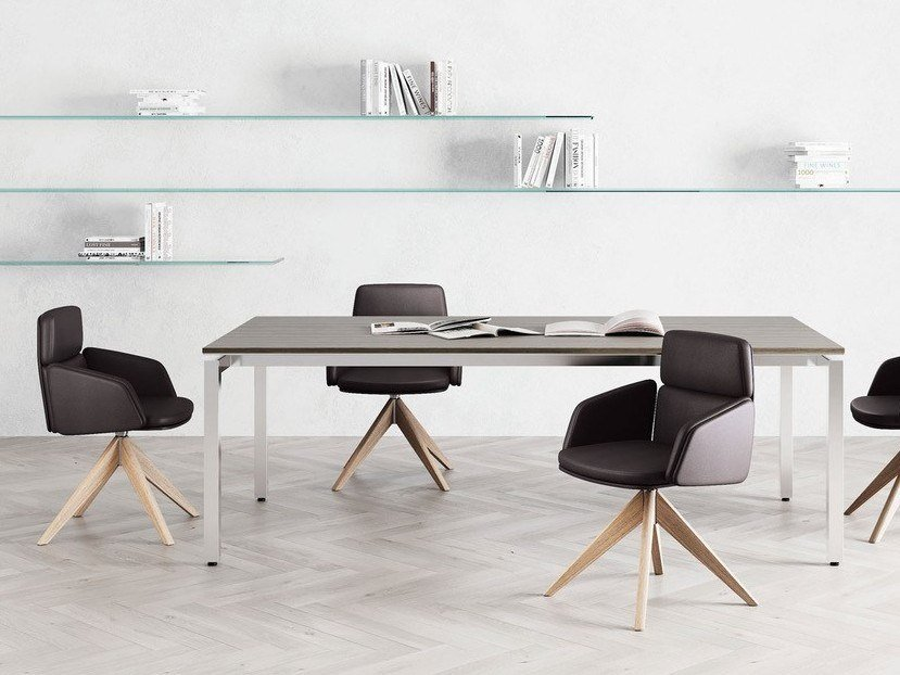 Upholstered chair with armrests LEAD | Chair by Las Mobili